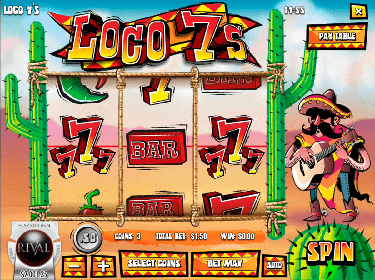 Loco 7s Slots - Play this Rival Gaming Casino Game Online