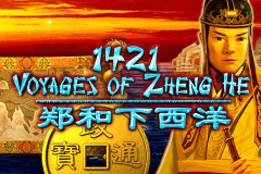 logo 1421 voyages of zheng he igt slot game