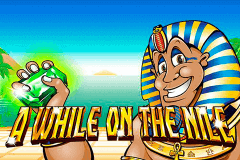 logo a while on the nile nextgen gaming slot game