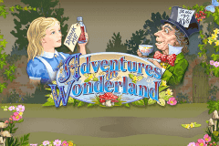 logo adventures in wonderland ash gaming slot game