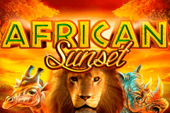 logo african sunset gameart slot game