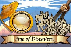 logo age of discovery microgaming slot game