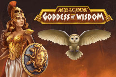 logo age of the gods goddess of wisdom playtech slot game