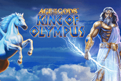 logo age of the gods king of olympus playtech slot game