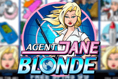 logo agent jane blonde microgaming slot game
