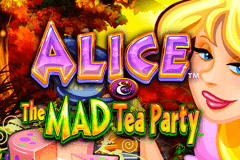 logo alice and the mad tea party wms slot game