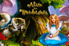 logo alice in wonderslots playson slot game
