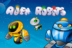 logo alien robots netent slot game