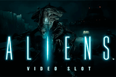 logo aliens netent slot game