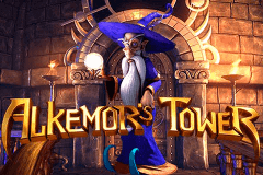 logo alkemors tower betsoft slot game