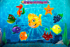 logo aquarium playson slot game
