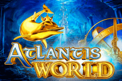 logo atlantis world gameart slot game