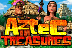 logo aztec treasures betsoft slot game