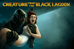 logo creature from the black lagoon netent slot game