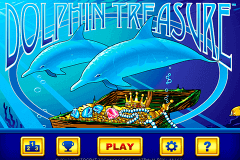 logo dolphin treasure aristocrat slot game