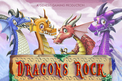 logo dragons rock genesis slot game