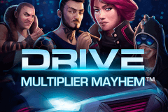 logo drive multiplier mayhem netent slot game