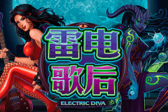 logo electric diva microgaming slot game