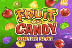 logo fruit vs candy microgaming slot game