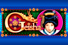 logo geisha aristocrat slot game