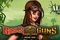 logo girls with guns jungle heat microgaming slot game