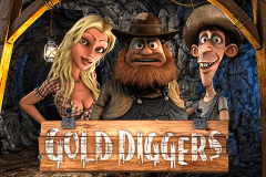 logo gold diggers betsoft slot game