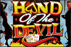 logo hand of the devil bally slot game