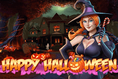logo happy halloween playn go slot game