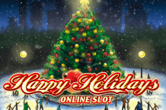 logo happy holidays microgaming slot game