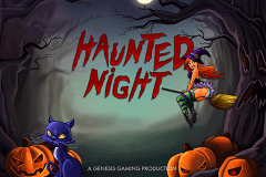 logo haunted night genesis slot game