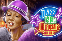 logo jazz of new orleans playn go slot game