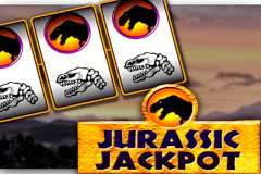 logo jurassic jackpot microgaming slot game