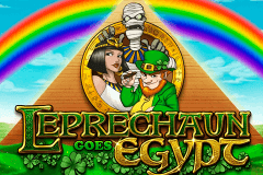 logo leprechaun goes egypt playn go slot game