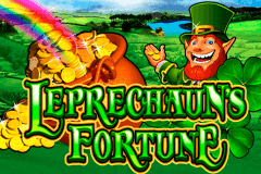 logo leprechauns fortune wms slot game