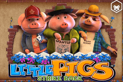 logo little pigs strike back leander slot game