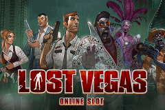 logo lost vegas microgaming slot game