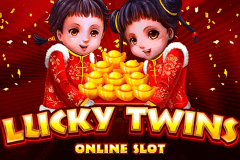 logo lucky twins microgaming slot game