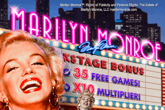 logo marilyn monroe playtech slot game