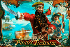 logo pirates treasures playson slot game