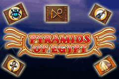 logo pyramids of egypt merkur slot game