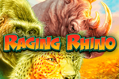 logo raging rhino wms slot game