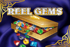 logo reel gems microgaming slot game
