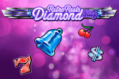 logo retro reels diamond glitz microgaming slot game