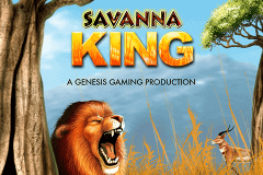 logo savanna king genesis slot game