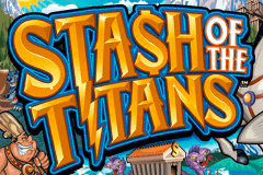 logo stash of the titans microgaming slot game