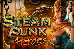 logo steam punk heroes microgaming