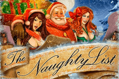 logo the naughty list rtg slot game