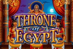 logo throne of egypt microgaming slot game