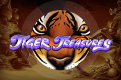 logo tiger treasures bally slot game