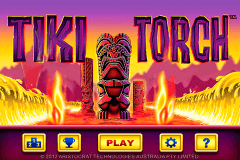 logo tiki torch aristocrat slot game
